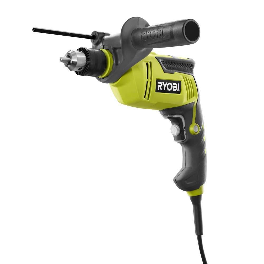 Ryobi 6.2 Amp Corded 1/2 in. Variable Speed Hammer Drill (Bulk Packaged) (Renewed)