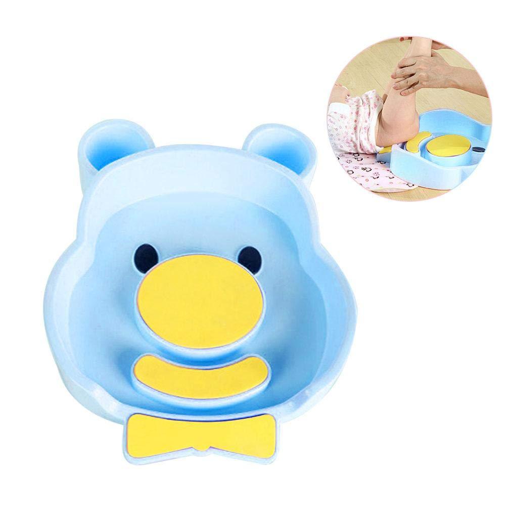 Samber Baby Wash Basin PortableBabyWashShowerBasin BPA Free Multi-Purpose Thickened Cartoon Wash Basin Footbath WashShowerBasinforWashingAssOrHeadwith 2 WashingBottles3EVACushions/Blue