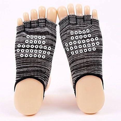 GuiXinWeiHeng 5pcs Calcetines con Cinco Dedos Medias Calcetines de Yoga pie Palma expuesta Calcetines Halter (