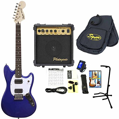 Squier エレキギター 10Wアンプ&小物セット Bullet Mustang HH Imperial Blue スクワイヤー ムスタング 入門 初心者 B06XJXZFQW