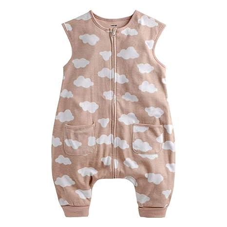 Gleecare Saco de Dormir para bebé,Pijamas de algodón edredón Anti-Retroceso de los