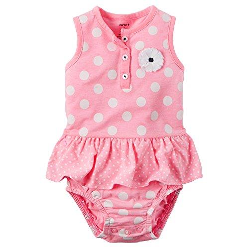 Carter's Baby Girls' Polka Dot Sunsuit (6 Months, - Girls Sunsuit Infant Carters
