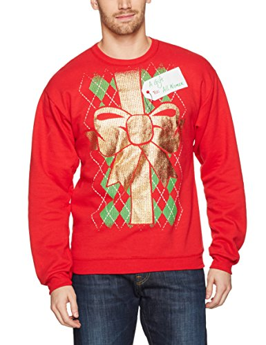 Hanes Men's Ugly Christmas Sweatshirt, Best Red/Gift to All Women, XX-Large