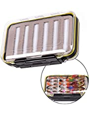 WINOMO Caja de la Caja de la Pesca con Mosca de los Lados Dobles Caja Impermeable de la Cebo del Gancho de la Cuchara del señuelo de los Pescados