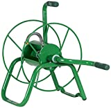 Yard Butler Handy Reel Easy Winding Heavy Duty Metal Garden 75' Water Hose Reel Low Profile Portable Ground Or Wall Mount– IHR-1GRN Green