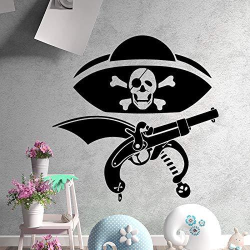 Lovely Pirate Gun Cartoon Anime Luffy Tatuajes de pared Pvc Mural ...