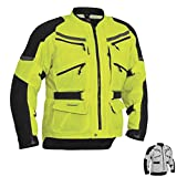 Firstgear Adventure Mesh DayGlo Yellow/Black Jacket, M - Tall