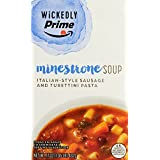 Wickedly Prime Minestrone Soup with Italian Sausage, 17 Ounce
