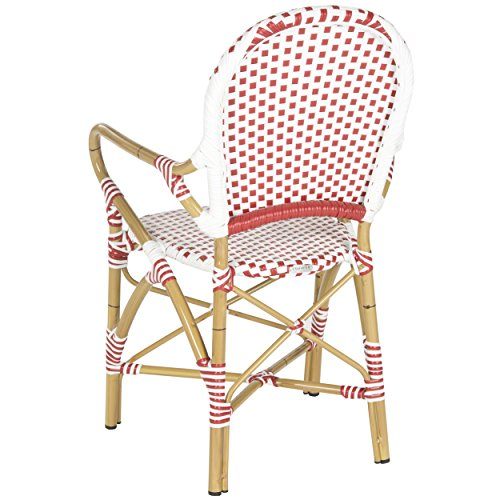 Safavieh Home Collection Hooper Red & White Indoor-Outdoor Stacking Arm Chair by Safavieh (Image #4)