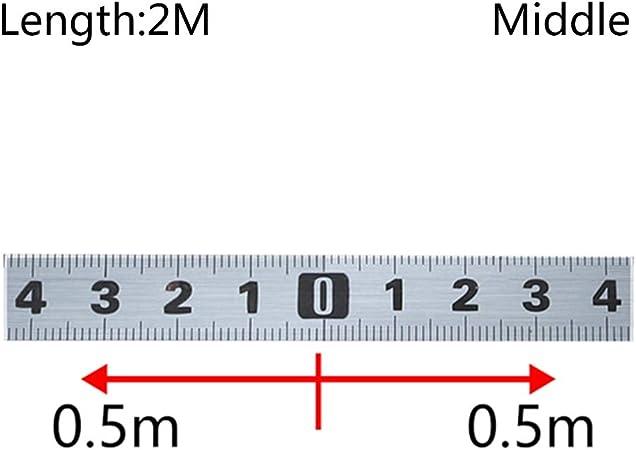 Yyooo Gehrungss/ägen-Ma/ßband Selbstklebendes Metrisches Stahllineal / 1m Von Rechts Nach Links