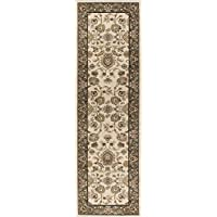 Gabrielle Traditional Oriental Ivory Runner Rug, 2 x 7
