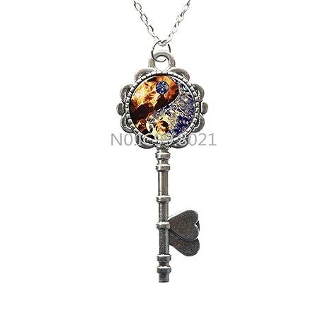 Amazon.com: Llavero con colgante de Yin Yang con llaves de ...