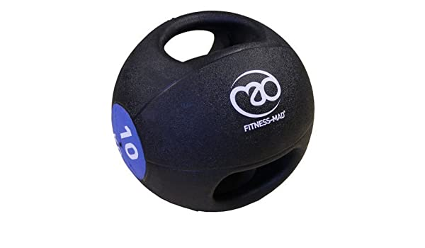 Fitness Mad - Balón medicinal con doble asa Talla:4 kg: Amazon.es ...