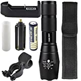 Flashlight,Baomabao X800 G700 Tactical Flashlight LED Military Lumens + 18650 Battery + Charger