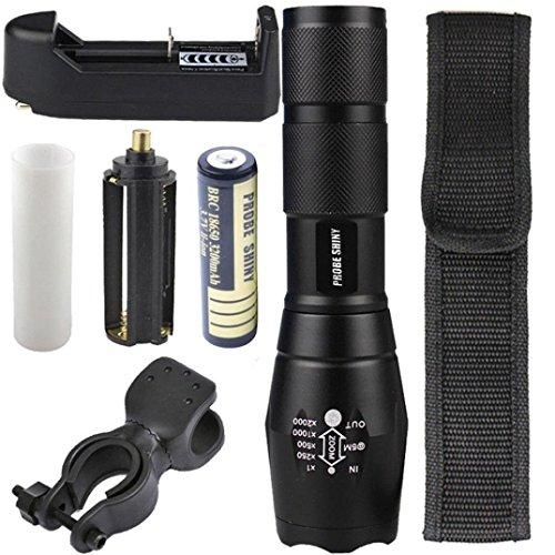 Flashlight,Baomabao X800 G700 Tactical Flashlight LED Military Lumens + 18650 Battery + (Flashlight Free Holster)