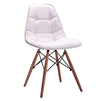 Strange Amazon Com Dining Wooden Chairs Eiffel Style Wood Legs And Machost Co Dining Chair Design Ideas Machostcouk