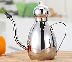 Stainless steel oiler soy sauce vinegar cruet kitchen pots pots of food-grade oil bottle sesame oil ( Capacity : 1000ml )