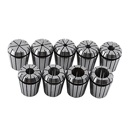 Spring Collet Set, 9pcs ER32 Spring Collet Set with Fine Workmanship High Precision for CNC Engraving Machine and Milling Lathe Tool 2-20mm