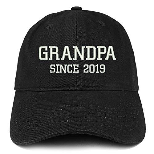 Trendy Apparel Shop Grandpa Since 2019 Embroidered Low Profile Deluxe Cotton Cap - ()