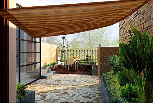 Frilivin - Toldo de Malla con Bloqueo de Rayos UV, 75% para Exteriores, toldo de jardín, Color marrón y café.: Amazon.es: Jardín