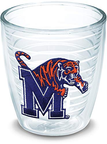 - Tervis 1006640 Memphis Tigers Logo Tumbler with Emblem 12oz, Clear