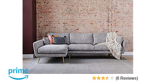 Amazon.com: Edloe Finch Modern Sectional Sofa Left Facing Chaise ...