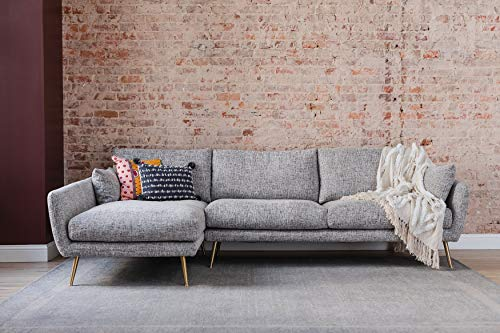 Edloe Finch Modern Sectional Sofa Left Facing Chaise Down Feather Cushions