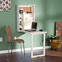 Upton Home Murphy Winter Antique White Fold-out Convertible Desk