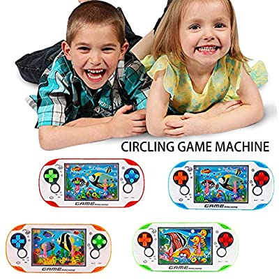 cobud Handheld Games Ring Water Console Game Toy Puzzle Game Machine Toy Child Portable Game Machine: Home & Kitchen