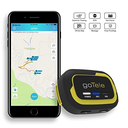 goTele Off-Grid Outdoor Real Time GPS Tracking Beacon, Text and Track Location on Your Phone Without Network Service (goTele)
