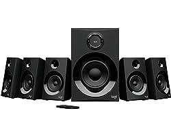 Caixa de som Multimidia Logitech Z607 com Sistema 5.1 Som Surround, Conexão Bluetooth ou 3,5mm - Com Rádio FM, Entrada USB e