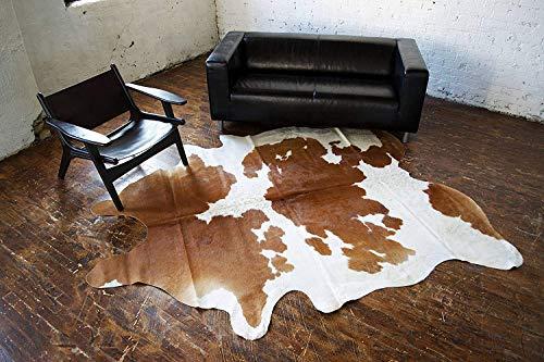 Metallic Calfskin Leather (A-Star Western Brown Cowhide Rug - Best Cow Hides Area Rug (5 x 6))