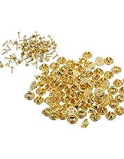 Bocotoer Golden Blank Pins met Pin Back Vervanging Vlinder Koppeling Tie Tacks Craft Making 100 Pairs