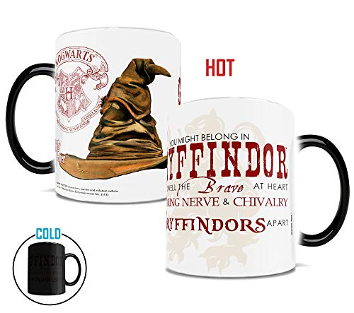 Harry Potter - Hogwarts House - Gryffindor Sorting Hat Quote - Morphing Mugs Heat Sensitive Mug - 11 Ounces