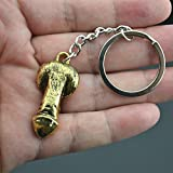 Gold Happy Silver plated men's genital key chain wedding party decoration gift key ring