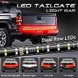 LED Truck Tail Light, 60inch 2-Row LED Truck Tailgate Light Bar Strip for Pickup,Trucks,Trailers,Cars,SUV,RV [ Full Featured Running Reverse Brake Turn Signal ]