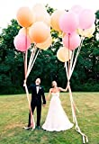 18 Inch Giant Jumbo Latex Balloons (Premium Helium Quality), Pack of 6, Round Shape - Clear
