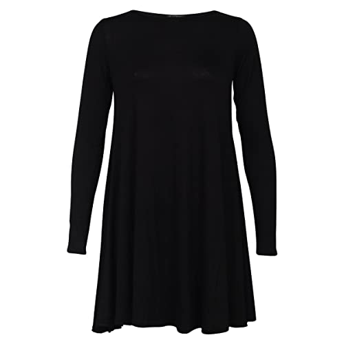 ZEE FASHION Womens Long Sleeve Casual Dress UK Size ...
