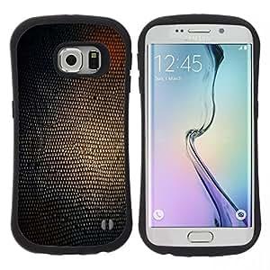 """Pulsar iFace Series Tpu silicona Carcasa Funda Case para Samsung Galaxy S6 EDGE , Serpiente Estructura de la piel Arte Glow Shine Marrón"""""""