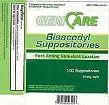 MCK23012712 - Mckesson Brand Laxative McKesson Brand Suppository 100 per Box 10 mg Strength Bisacodyl