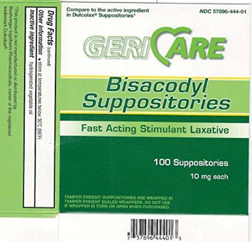 MCK23012712 - Mckesson Brand Laxative McKesson Brand Suppository 100 per Box 10 mg Strength Bisacodyl by McKesson