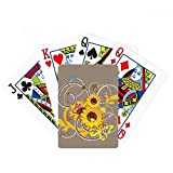 beatChong Plant Flower Sunflower Illustration Poker Playing Card Tabletop Board Game Gift