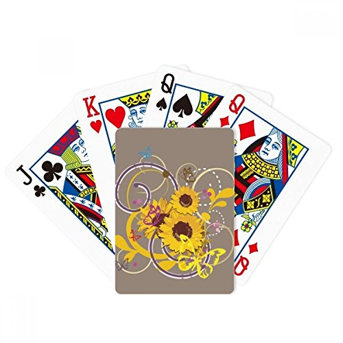 beatChong Plant Flower Sunflower Illustration Poker Playing Card Tabletop Board Game Gift by beatChong