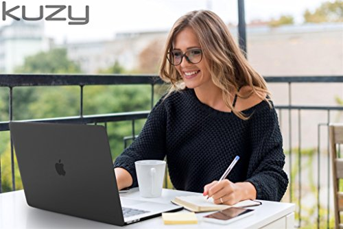 MacBook Pro 13 inch Case 2018 2017 2016 Release A1989 A1706 A1708, Kuzy Plastic Hard Shell Cover for Newest 13 inch MacBook Pro Case with Touch Bar Soft Touch - Black by Kuzy (Image #1)