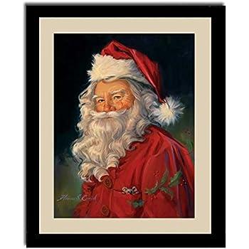 Santa claus old fashioned christmas gift for Christmas wall art amazon
