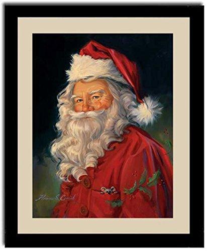 Amazon.com: Santa Claus Old Fashioned Christmas Gift Framed Art ...