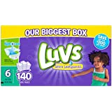 Luvs Ultra Leakguards Diapers, One Month Supply, Size 6, 140 Count
