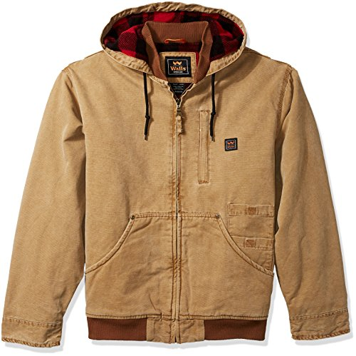 (Walls Men's Breckenridge Vintage Duck Hooded Jacket, Pecan, Large)
