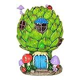 Mini Dollhouse FAIRY GARDEN Accessories - Solar Artichoke House - My Garden Miniatures