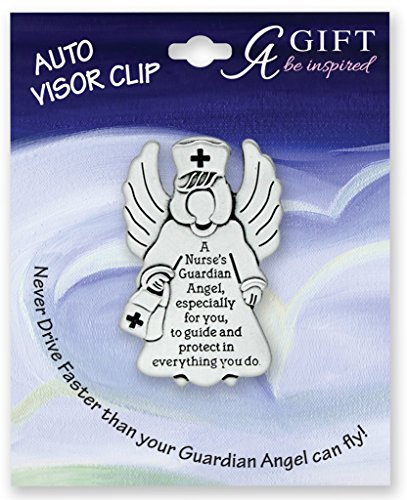 Cathedral Art KVC616 Angels at Work and Play Visor Clip, Nurse, 2-1/4-Inch